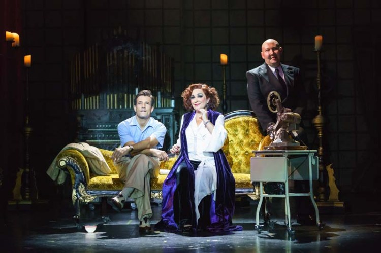 Danny Mac, Ria Jones and Adam Pearce  in Sunset Boulevard, currently playing at Wales Millennium Centre