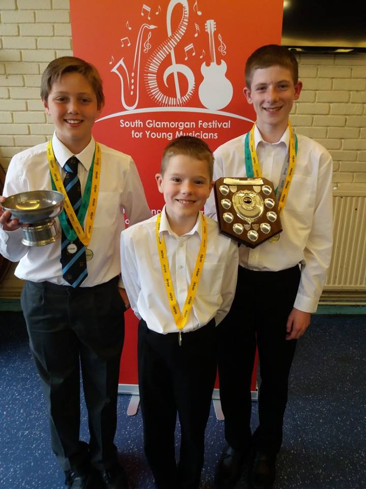 Previous winners for South Glamorgan Festival For Young Musicians.
