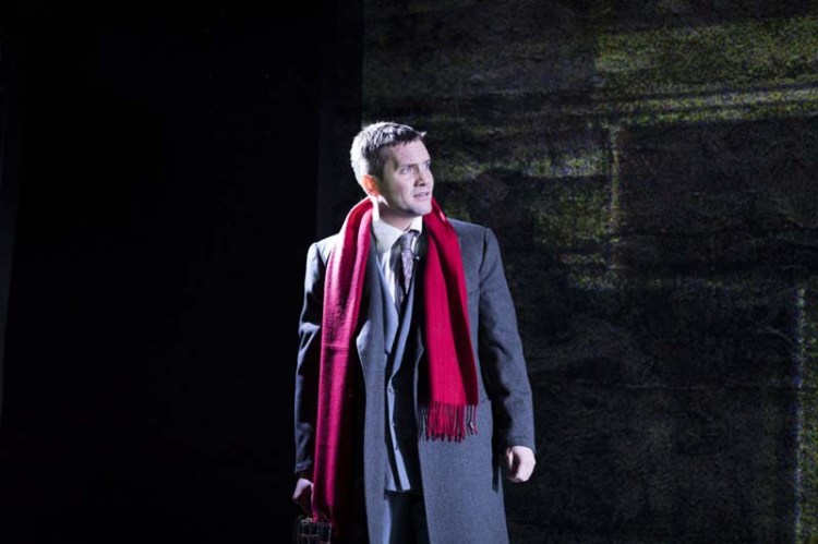 Jack Ashton as Guy Haines in the UK Tour of Strangers On A Train playing at New Theatre, Cardiff. Photo: Helen Maybanks