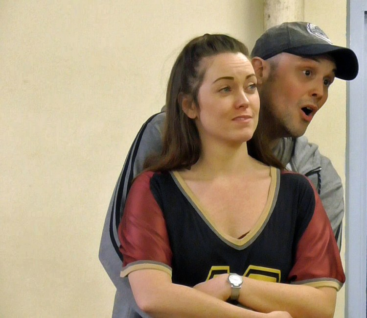 Rehearsals for Centrestage Cymru's  Top Hat f eaturing Jordan Archer and Becci Jarvis.