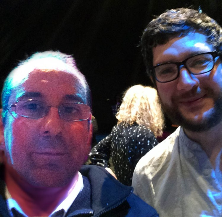 Andy Howells pictured with Wales Music Award winner Gareth Bonello aka The Gentle Good, who headlines his own show with The Mavron Quartet at The Festival of Voice at Wales Millennium Centre's Weston studio on June 16.