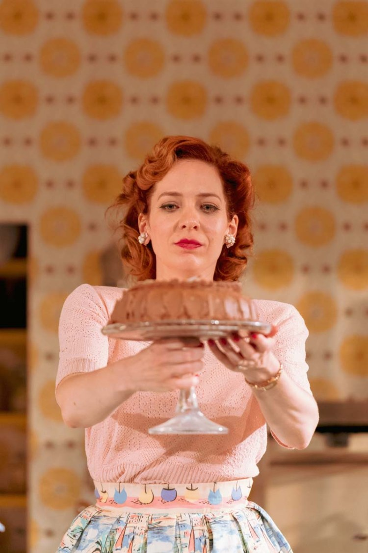 Katherine Parkinson gives an insight into the life of a 1950's Domestic Goddess in Laura Wade's Home, I'm Darling, a co-production between the National Theatre and Theatr Clywd. Picture: Manuel Harlan