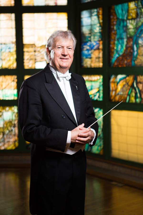 Owen Arwel Hughes CBE conducted the Royal Philharmonic Orchestra for the Movies and Musicals Welsh Prom at Cardiff's St David's Hall.