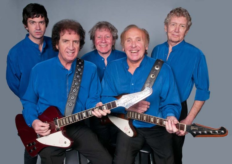 The Merseybeats consisting of founder members Tony Crane and Billy Kinsley (forefront) are part of the line-up for the 2018 Sixties Gold tour.