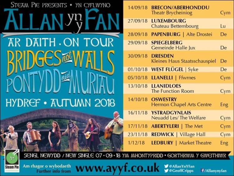 Allan Yn Y Fan Bridges Not Walls Tour