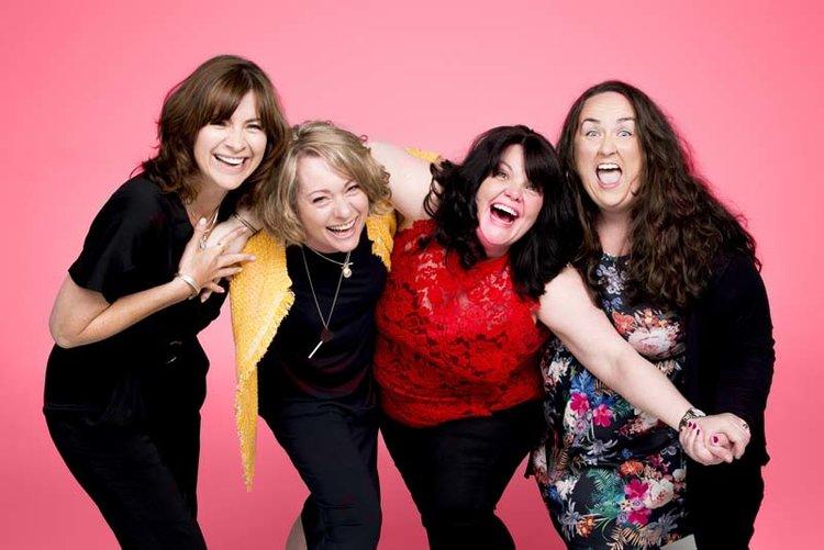 Jayne McKenna, Emily Joyce, Rachel Lumbergand Alison Fitzjohn in The Band Picture: Matt Crockett