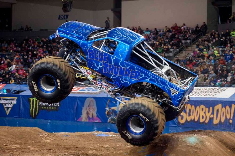 Blue Thunder will be one of the Monster Trucks taking part in Monster Jam® at Cardiff's Principality Stadium on May 18, 2019.
