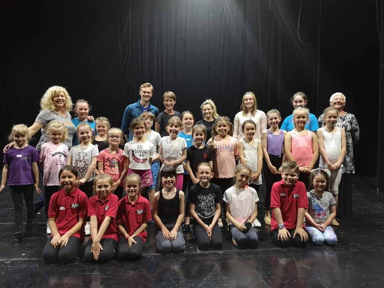 Students pictured at the masterclass at the BBO Dance Workshops in Newport's Dolman Theatre. Photo: Andy Howells
