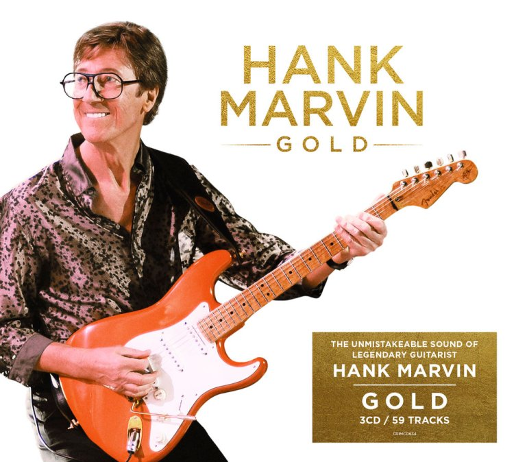 Hank Marvin releases a triple CD set spanning 50 years of solo recordings,  Gold  on June 28, 2019