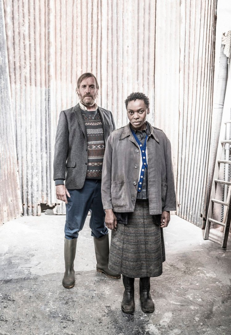 Rhys Ifans and Rakie Ayola. star in On Bear Ridge Photo by Johan Persson