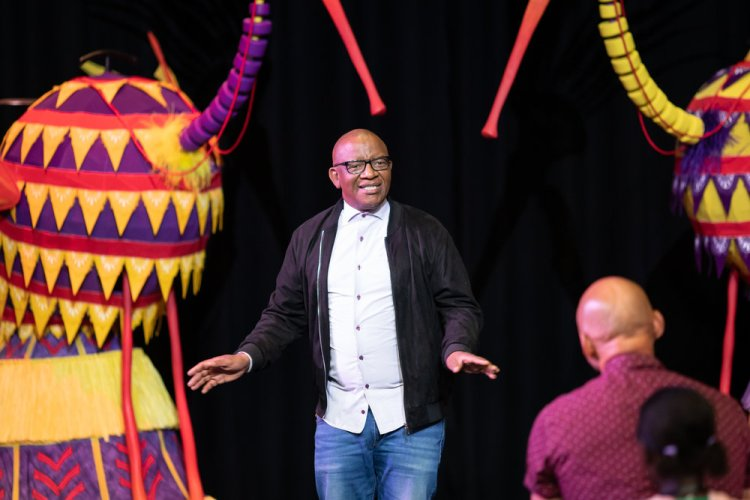 Lebo M at the first day of rehearsals for Disney's The Lion King UK tour. The Lion King comes to Bristol Hippodrome from September 7 until November 23, 2019. Credit Helen Maybanks ®Disney