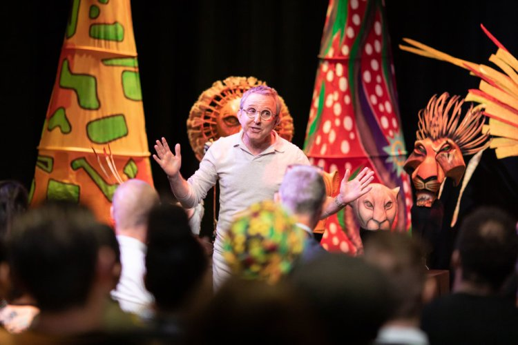 Thomas Schumacher at the first day of rehearsals for Disney's The Lion King UK tour. Credit Helen Maybanks ®Disney