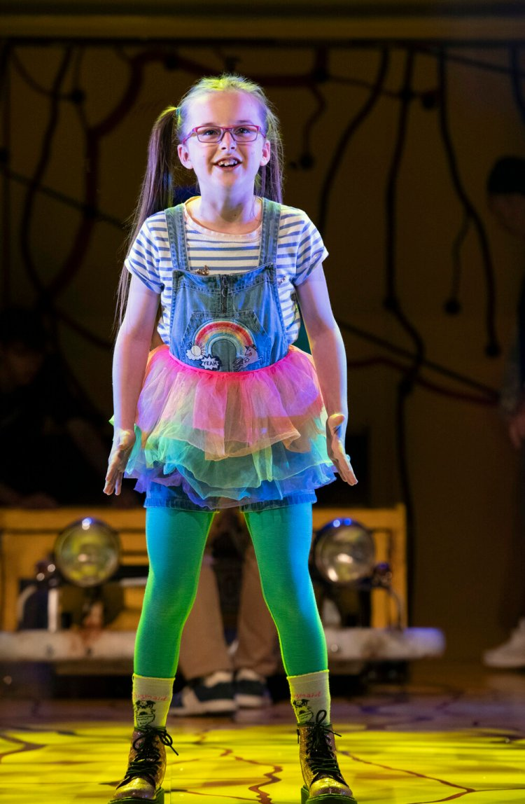 Evie Gibson as Olive in Little Miss Sunshine which plays Cardiff's New Theatre until September 14, 2019 Photo by Richard H Smith