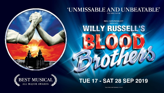 Blood Brothers runs at Cardiff's New Theatre from September 17 - 28, 2019.