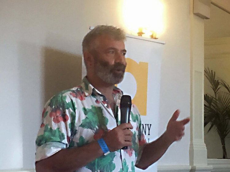 Sandor Katz speaking about fermentation at the 21st Abergavenny Food Festival on Saturday. Photo: Entertainment South Wales