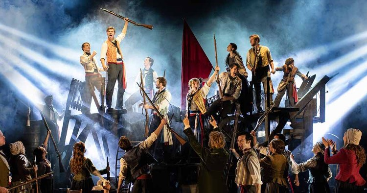 The Barricade as seen in Les Miserables, which plays The Bristol Hippodrome from Tuesday 7 April – Saturday 9 May 2020..Photo:. Helen Maybanks
