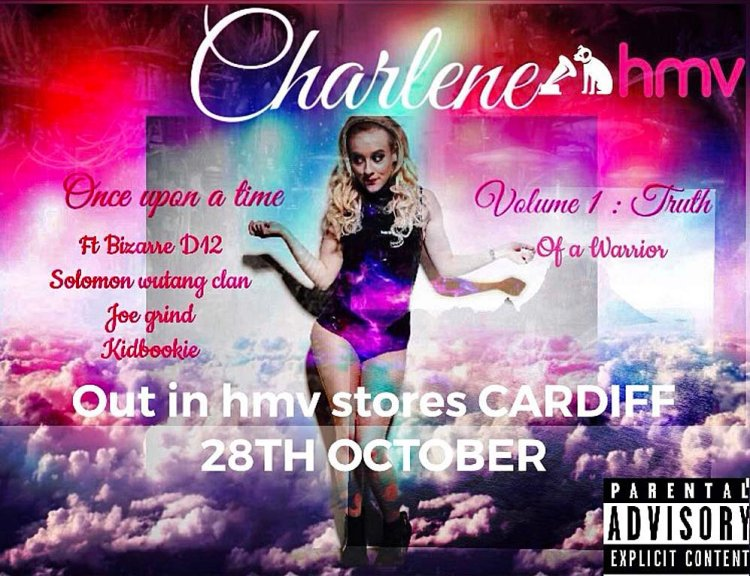 Charlene's debut album,  Truth of a Warrior  will be released at a special event at HMV Cardiff on October 28.