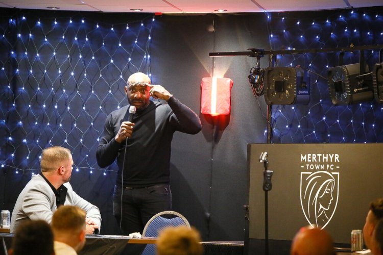 Johnny Nelson at Merthyr Town Football Stadium on November 15, 2019. Photos by Liam Hartery