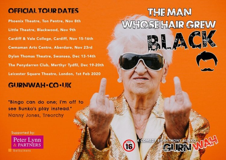 Gurnwah Productions/ The Man Whos Hair Grew Black plays London's Leicester Square Theatre on February 1, 2020