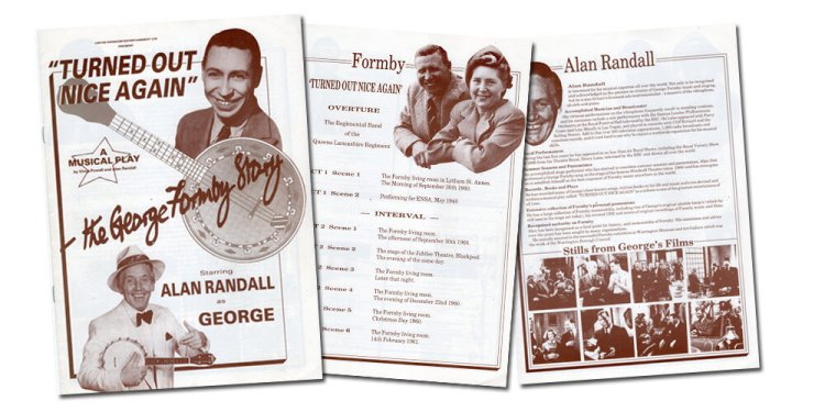 Pages from the souvenir programme of  Turned Out Nice Again - The George Formby Story