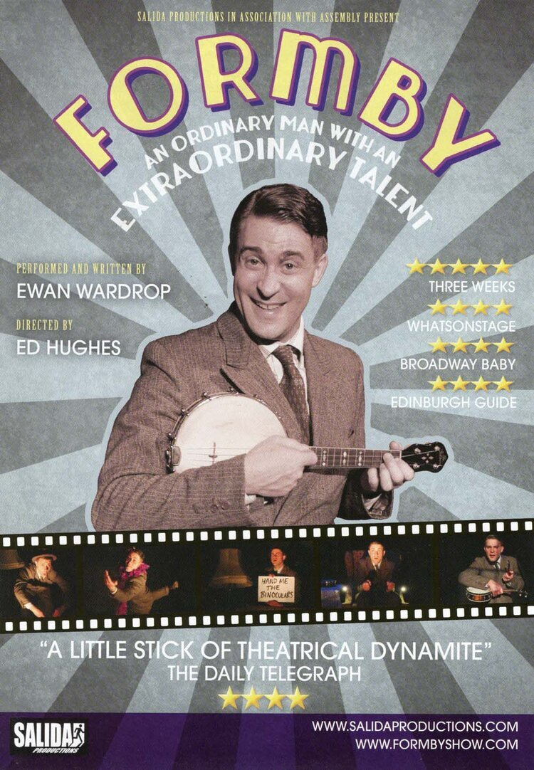 It Turned Out Nice Again For Ewan Wardrop as George Formby in 2014!