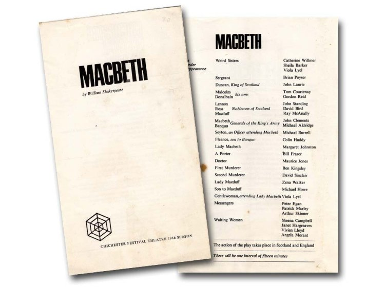 Programme for Macbeth, Chichester Festival Theatre, 1966