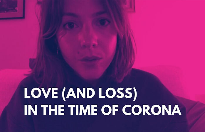 Love (and Loss) in the Time of Corona  by Katie Elin-Salt stars Catrin Stewart. Photo: Sherman Theatre