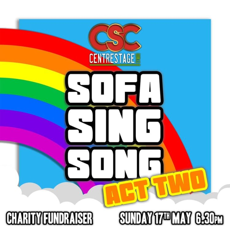 Centrestage Cymru's Sofa Sing Song Act Two will be available to watch on Facebook for a week after broadcast.