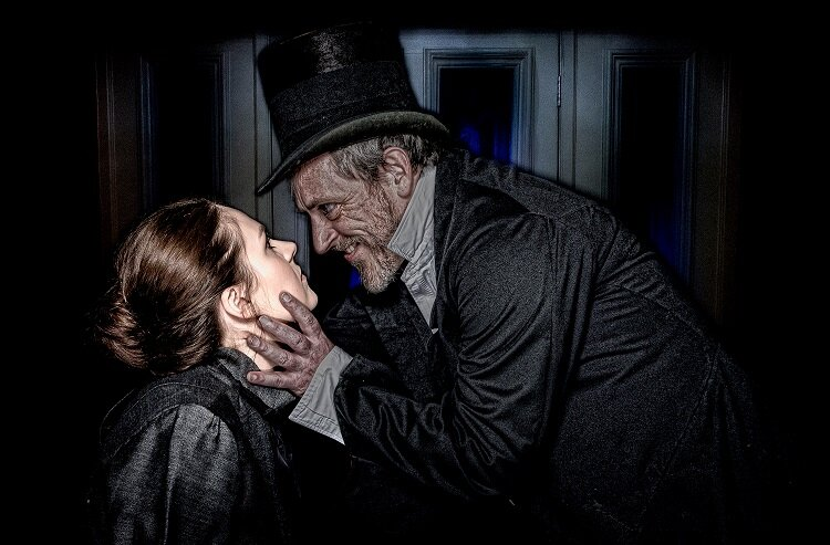 Dr Jekyll & Mr Hyde was presented by Newport Playgoers at The Dolman Theatre in October 2018. Photo: Paul Johnson