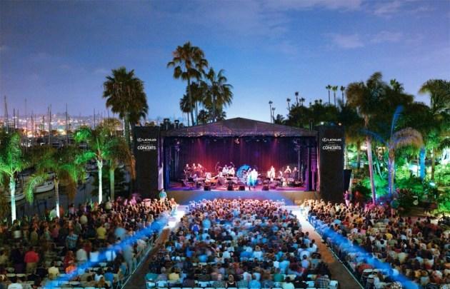 Humphreys Concerts venue with new Lexus scrims 2010
