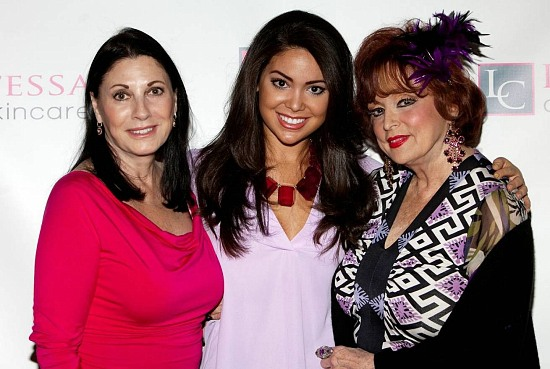 Judith Mancini, Noelle Freeman (Miss California) & Marci at Contessa Skin Care Soiree