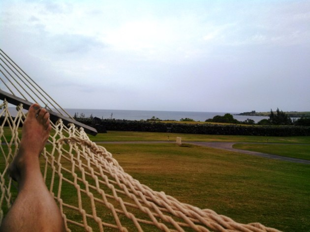 Bliss is a hammock overlooking the Pacific Ocean