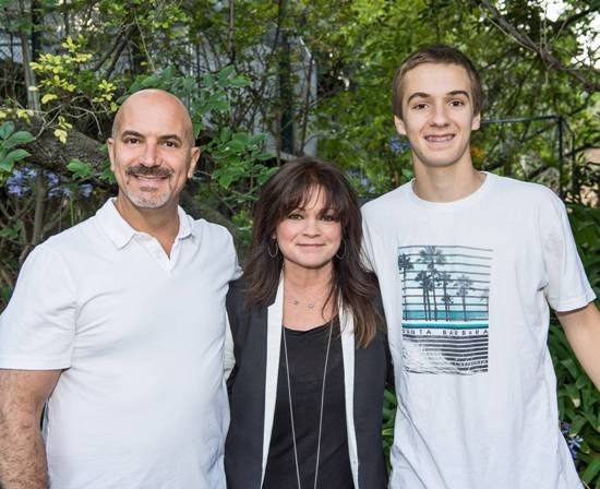 Actress Valerie Bertinelli with  husband, Tom Vitale & Dominic Vitale at Beastly Ball at L.A. Zoo