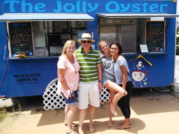 Happy campers after enjoying the freshness of the Jolly Oyster.