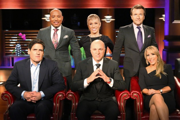 Shark Tank's Mark Cuban, Daymond John, Barbara Corcoran, Kevin O'Leary, Robert Herjavec and Lori Greiner (photo:ABC/AdamTaylor)