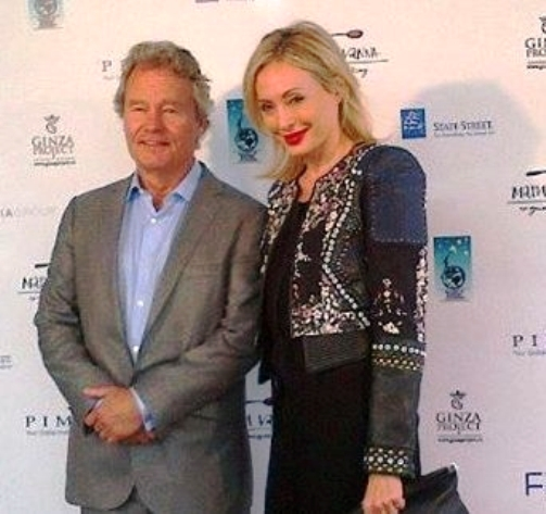 Actor John Savage with Lubov Azria, CEO, BCBG