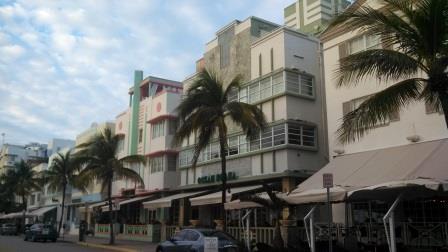 The hotels stand shoulder to shoulder