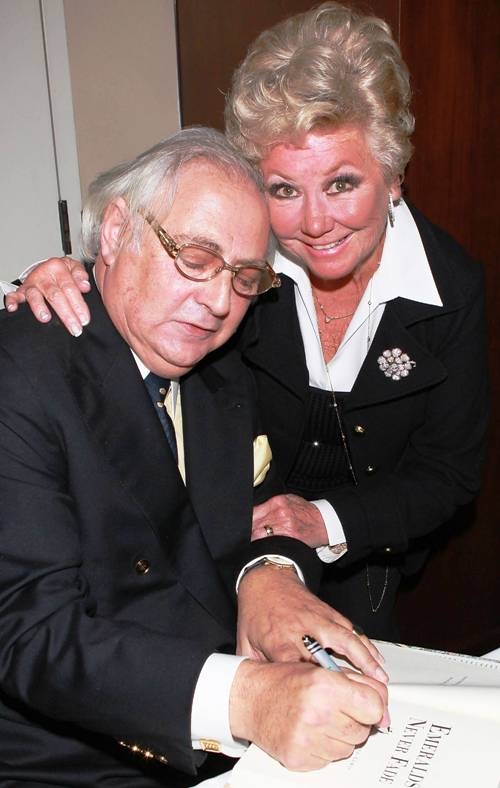 Author Stephen Maitland Lewis with Mitzi Gaynor (President of PDS)