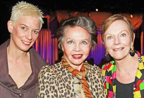 Leslie Caron with Patricia Ward Kelly & Ava Astaire