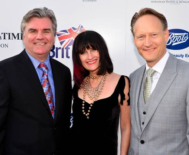 Bob Peirce (Former British Consul Gen of L.A.) and wife, Sharon with current British Consul Gen. L.A., Chris O'Connor