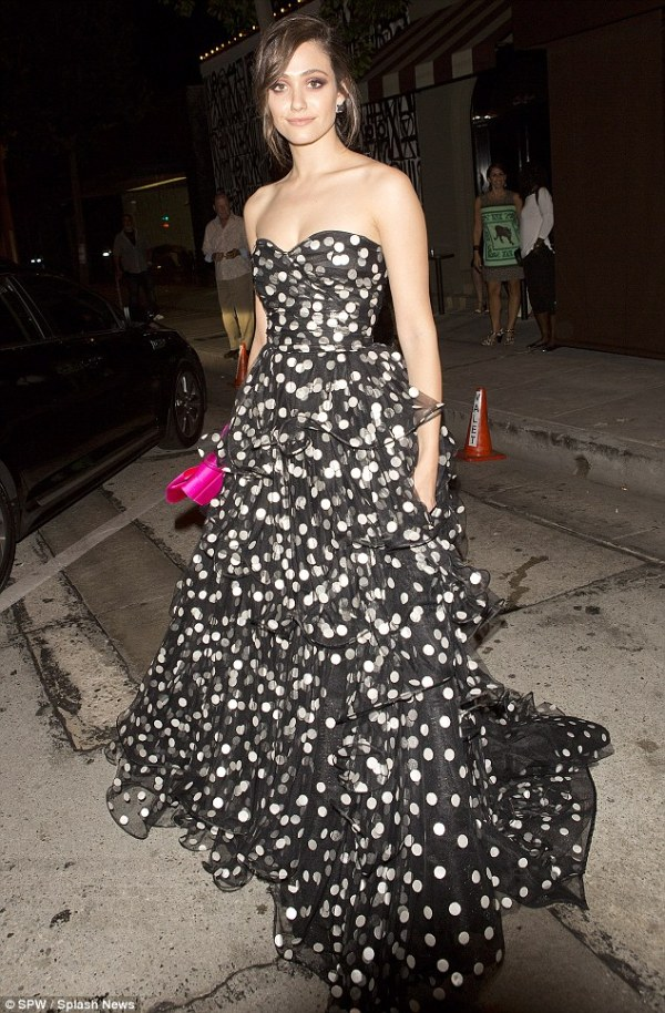 Actress/Singer Emmy Rossum at Opening Night of La Traviatra