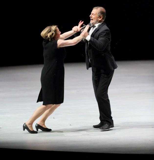 Robert Hayward & Claudia Mahnke performing in Bluebeard's Castle at L.A. Opera