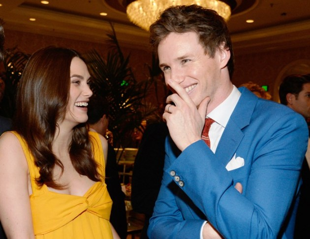 Kiera Knightly & Eddie Redmayne at BAFTA Tea Party