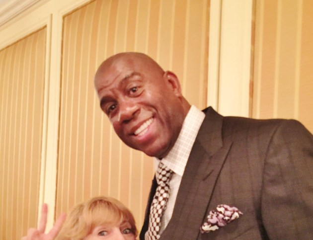 Magic Johnson at Builders Ball (photo by Diane Thompson)