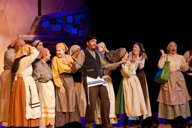 the cast of Fiddler on the Roof at NoHo's El Portal Theatre