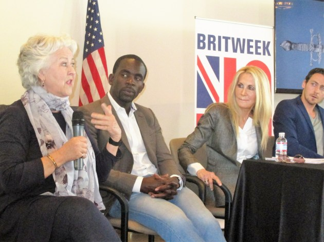 BritWeek stars Jane Carr, JimmyAkingbola, JoanVanArk, JackLowe (photo by Margie Barron)