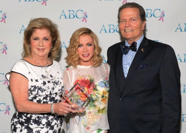 ABC President, Gloria Gebbia, actress Donna Mills with Patrick Wayne (son of John Wayne)