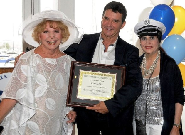 Actress Ruta Lee, Dr. Bruce Hensel, Stephanie J. Hibler (Event Chairman) Thalians Presidents Club Event (Photo Credit: Maxine Picard)