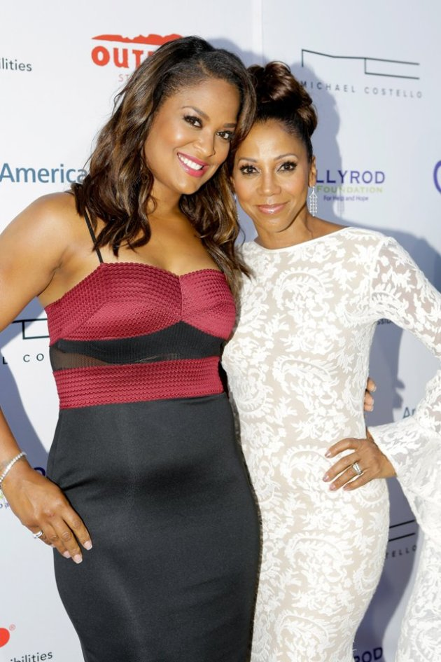 Laila Ali with Holly Robinson Peete at HollyRod Foundation Fundraiser (Photo Credit: Tiffany Rose - Getty Images)