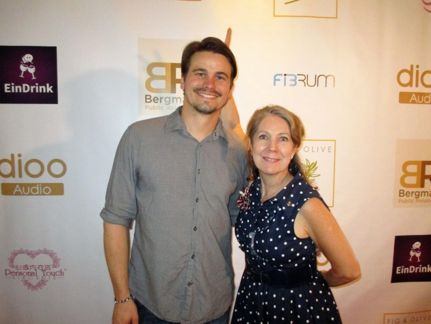 Jason Ritter with Margie Barron